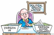 Political Speech Writer's Jargon In and Jargon Going Forward Desk Organizers.